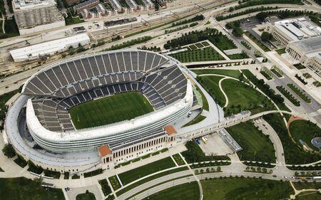 일광에서 촬영 한 시카고 유명한 축구 경기장