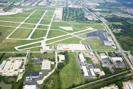 광대 한 녹색 토지의 공중보기 스톡 콘텐츠