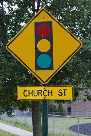 stoplight: Yellow stoplight street sign