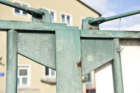 Steel door latch entrace.