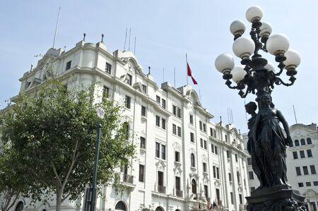 peru architecture: Architecture around Lima Peru on a sunny day. Stock Photo