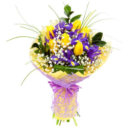 Yellow tulips flower arrangement bouquet Фото со стока