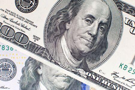 American dollar one hundred bills usd background Фото со стока