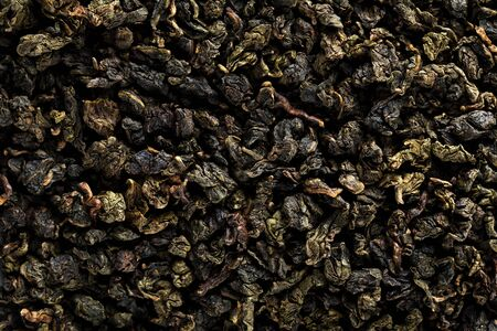 Chinese green tea oolong pattern. Oolong guanyin traditional china green tea background