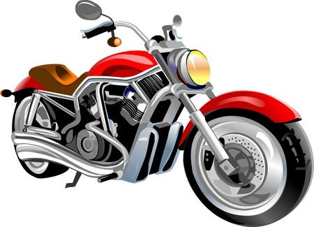motorcyclist: gran motocicleta Roja est� en el camino blanco.