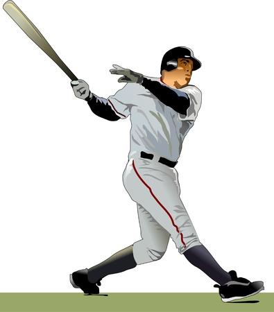 Baseball Batter Illustration  Stock Vector - 9884991