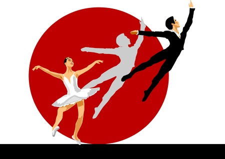 ballerina and ballet  Vector