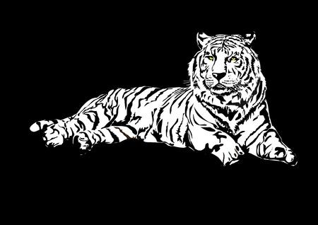 Tigre de Siberia Ilustración de vector