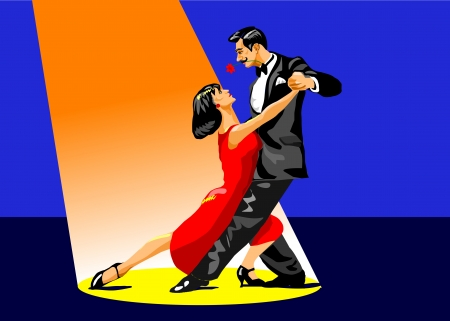 tango: illustration of a couple dancing tango