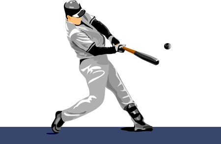 baseball player. Easy change colors. pitch ball Stock Vector - 10105886