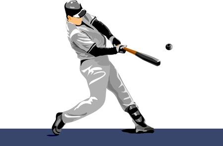 catcher baseball: joueur de baseball. Couleurs de changement facile. boule de poix