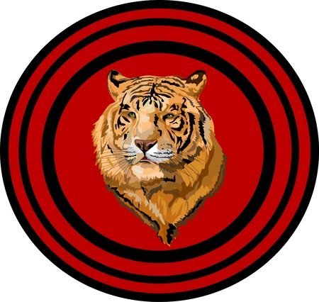 chevron tiger in the circle