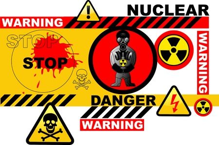 warning about the nuclear threat Vector