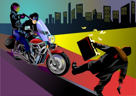 robbery: Nighttime robbery: Motorbike gang strike in central town