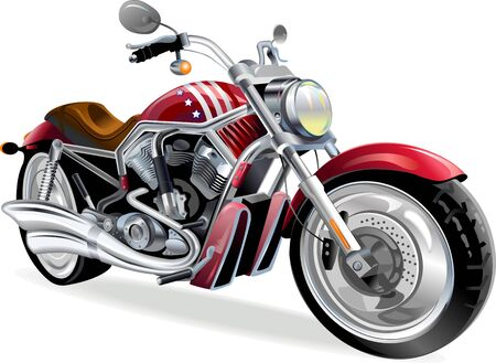 speed ride: big red motorcycle