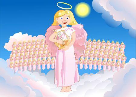 birthday angel:  Choir of Angels sings congratulatory song