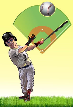 Baseball Batter cartune Vector