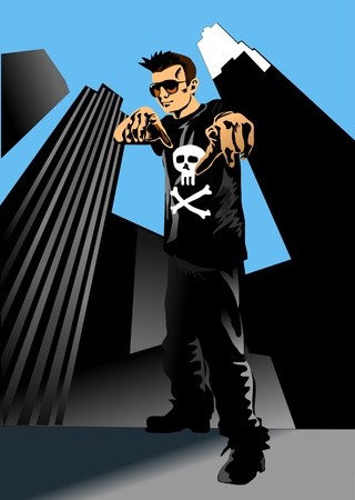 hiphoper IN THE CITY Vector