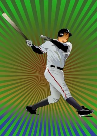 Baseball Batter Vector Illustration  Vector
