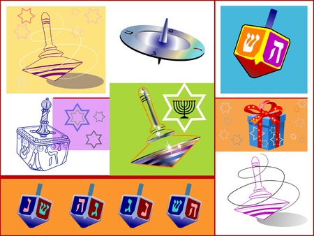 jews: modern and ancient HANUCA SAVIVON (whirligig) AND CANDLS