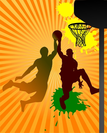 Vector Basketball Player  Easy change colors