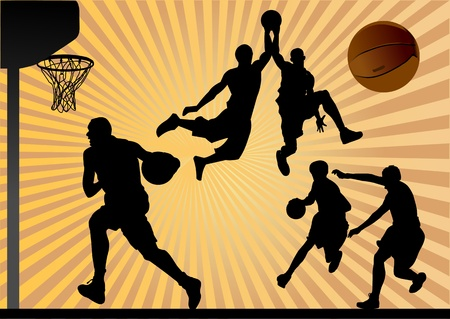dunk: Vector Basketball Player  Easy change colors