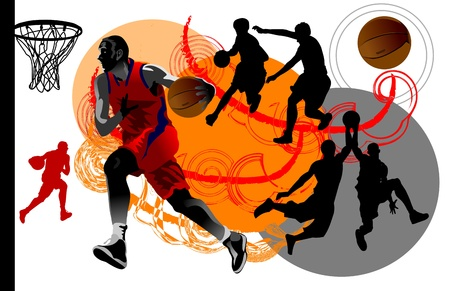 Vector Basketball Player  Easy change colors   Vector