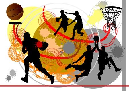 slam dunk: Vector Basketball Player  Easy change colors
