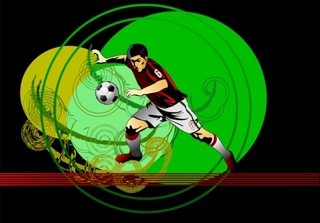Soccer player Stock Vector - 13920090