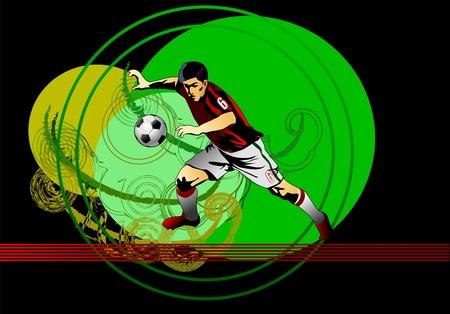 Soccer player Ilustração