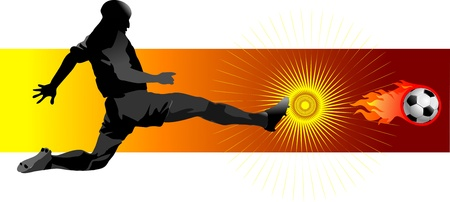 soccer player  penalty kick Vector