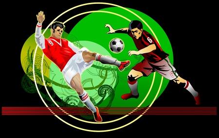uefa: Aktion der Fussball Fussball Kampf Illustration
