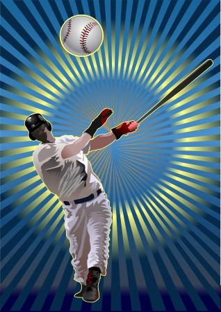 pitcher: Baseball Batter Illustration