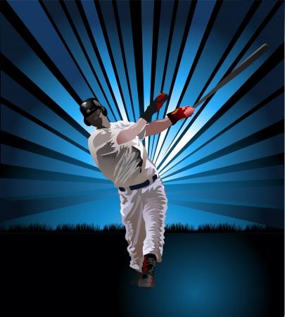 Baseball Batter  イラスト・ベクター素材