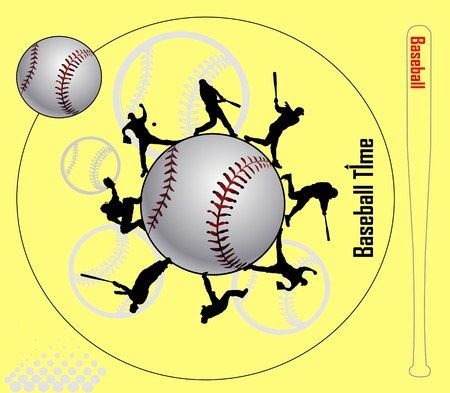 league: Baseball Illustration