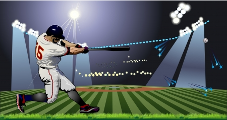 baseball catcher: Baseball Batter Illustration