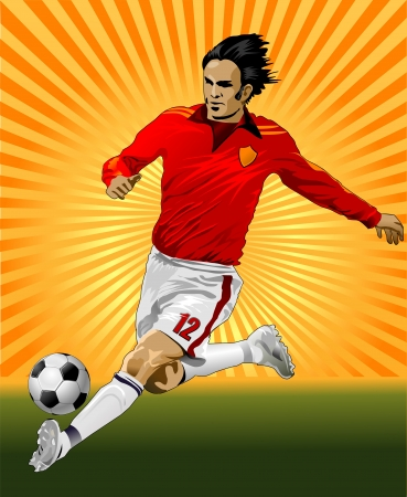a soccer player and soccer ball Stock Vector - 13959663