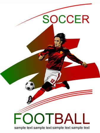 sports event: Soccer Action Player  Original sports poster