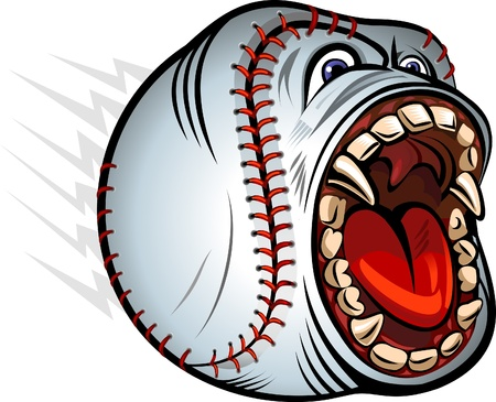 Extremely Angry Baseball Shout Vector