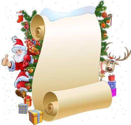wish list: New Year Wish List for Santa Illustration