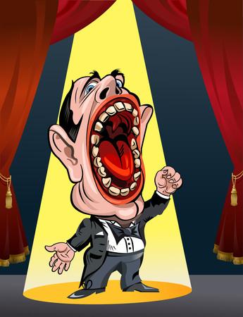 漫画のオペラ歌手