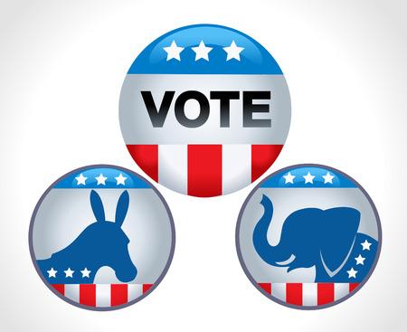 Election Voting Illustration