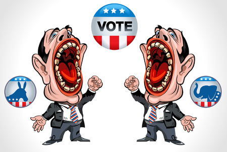 mulatto: cartoon man voting