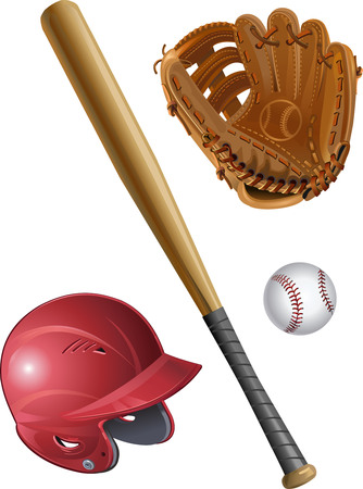sports activity: Bat, Helmet, ball
