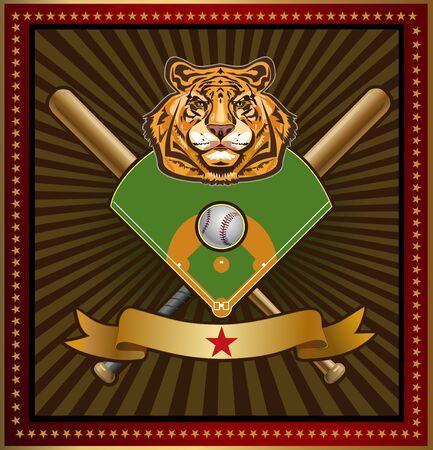 team game: baseball tiger label