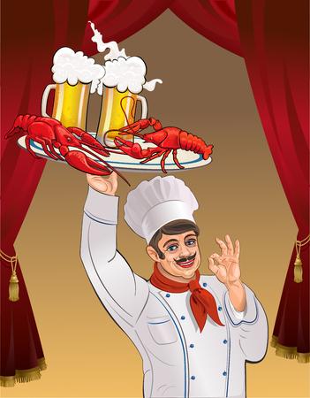 cocineros: Cocinar con cerveza y langosta