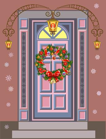 coronas de navidad: Puertas con Coronas de Navidad. Preciosa entrada vacaciones