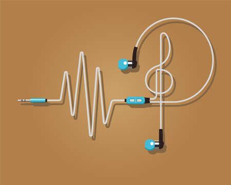 rhythm: Headphones vector illustration. Rhythm