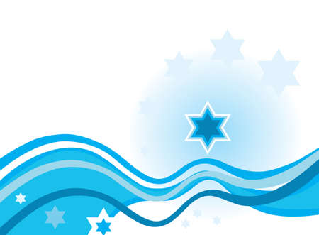 Hebrew abstract background with star of David