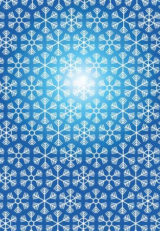 Christmas Snowflakes. Blue winter snowflake banner Vector